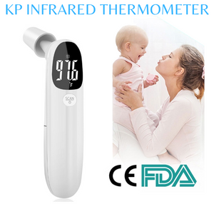 Thermometer - Forehead Thermometer - Thermometer for Adults - Digital Thermometer - Temperature Gun - termometro Digital for Kids/Baby - Senior and All Ages - 2 AAA Batteries Included