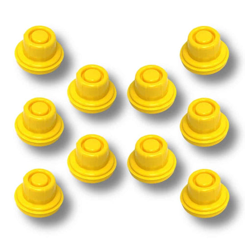 Replacement Yellow Spout Cap Top for Blitz Fuel Gas Can (Pack of 10)