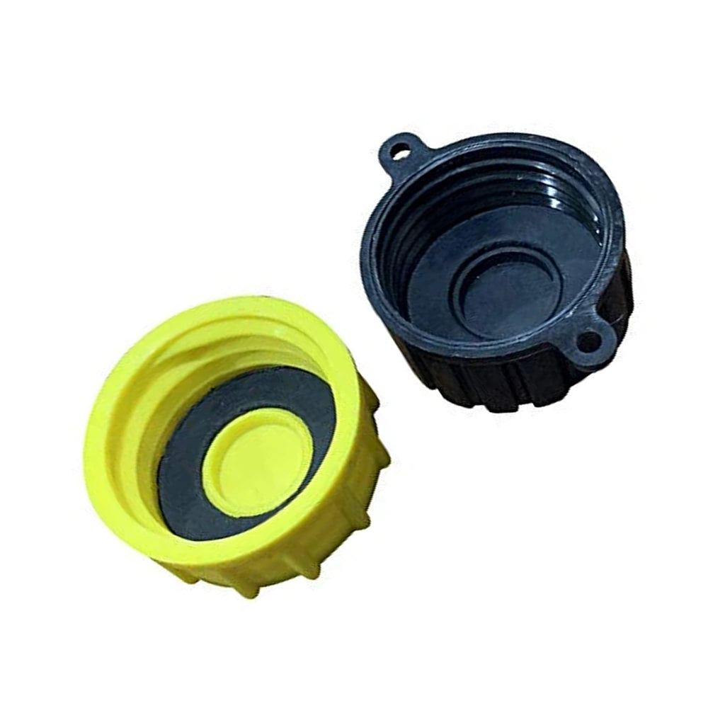 KP44 - Gas Can Cap - Solid Base Replacement Gas Can Cap (1-Coarse and 1-Fine Thread)