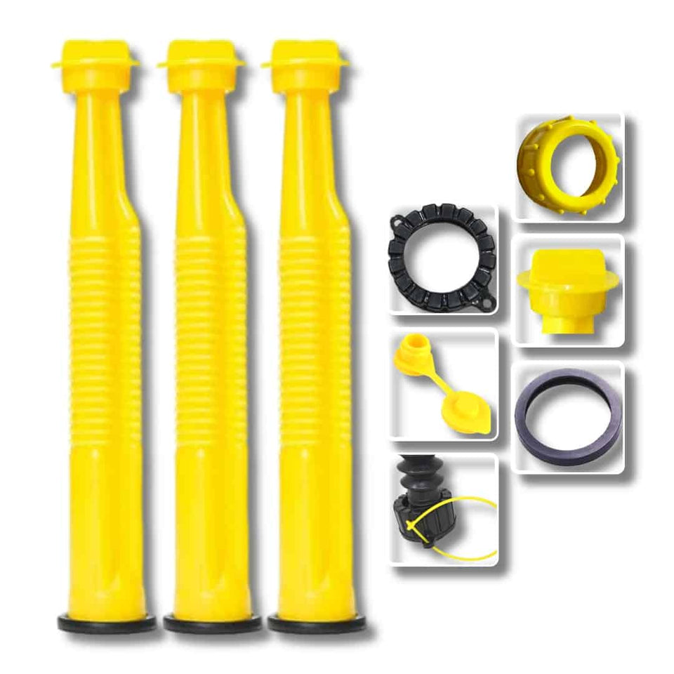 Yellow Replacement Spout Kit With Stainless Steel Filter And Vent Plug (Pack of 3 )