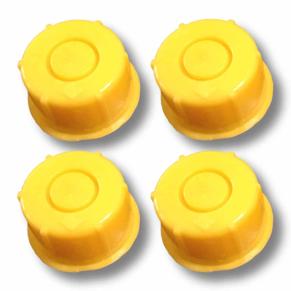Blitz Yellow Spout Cap fits Self-Venting Gas Can spouts (Pack of 4)