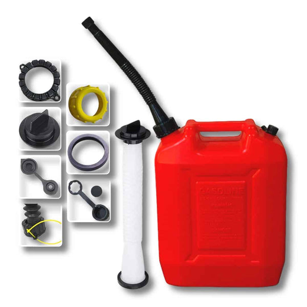 2.6 Gallon Gas Can With Two Spout & Accessories - KOOLPRODUCTS