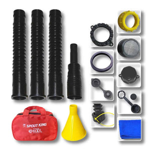 Gas Can Spout Kit With Carry Around Hand Bag - Complete Accessories Included