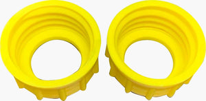 2 Aftermarket Yellow Midwest CAN Style Screw Cap Collar