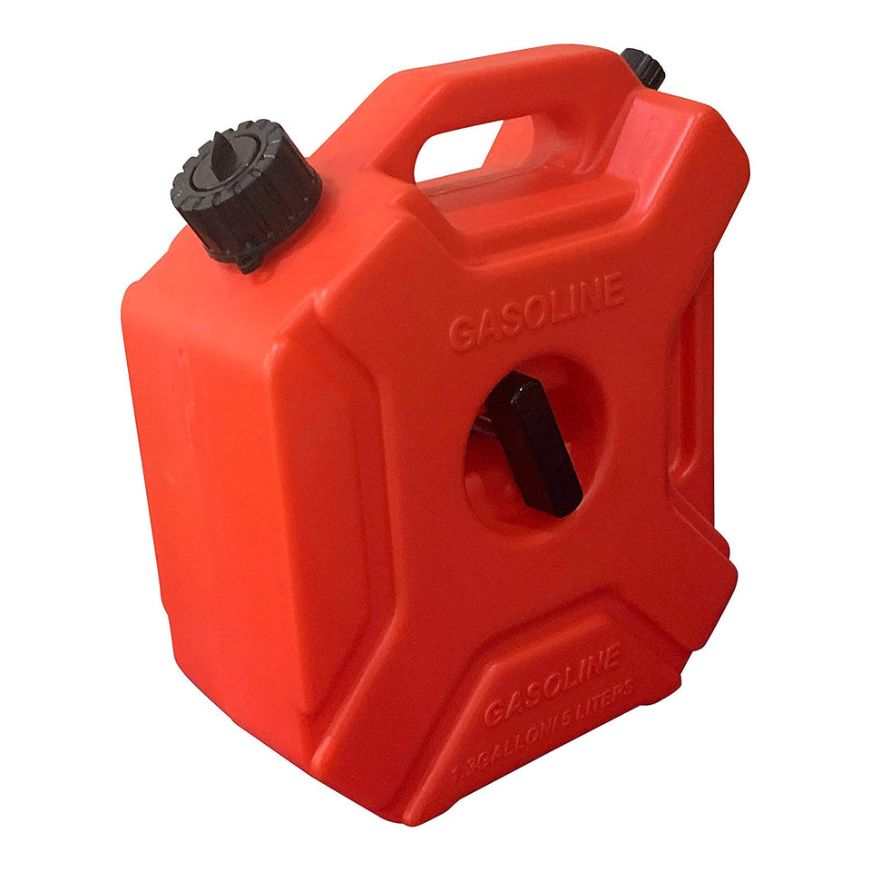 KP60 - 1.3 Gallon Gas Can with Car Mount and One Gas Can Spout Replacement (5 L)