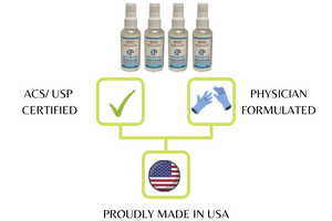 KP Kool Products Hand Sanitizer with Essential Oils (60 ml / 2 oz. bottle with sprayer) Made in America