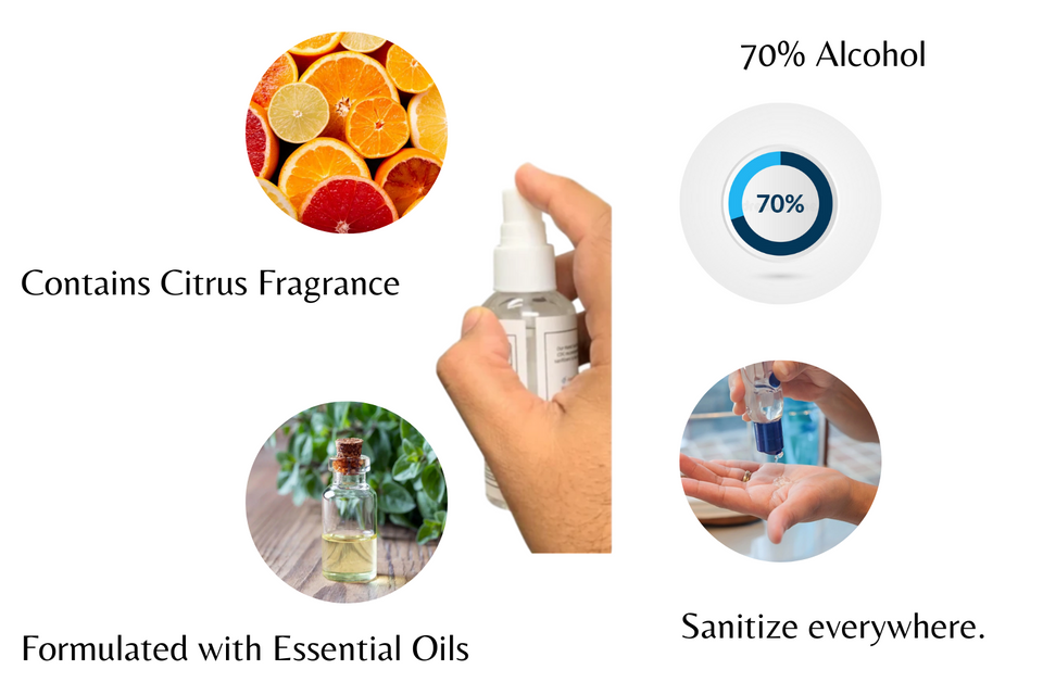 KP Kool Products Hand Sanitizer with Essential Oils