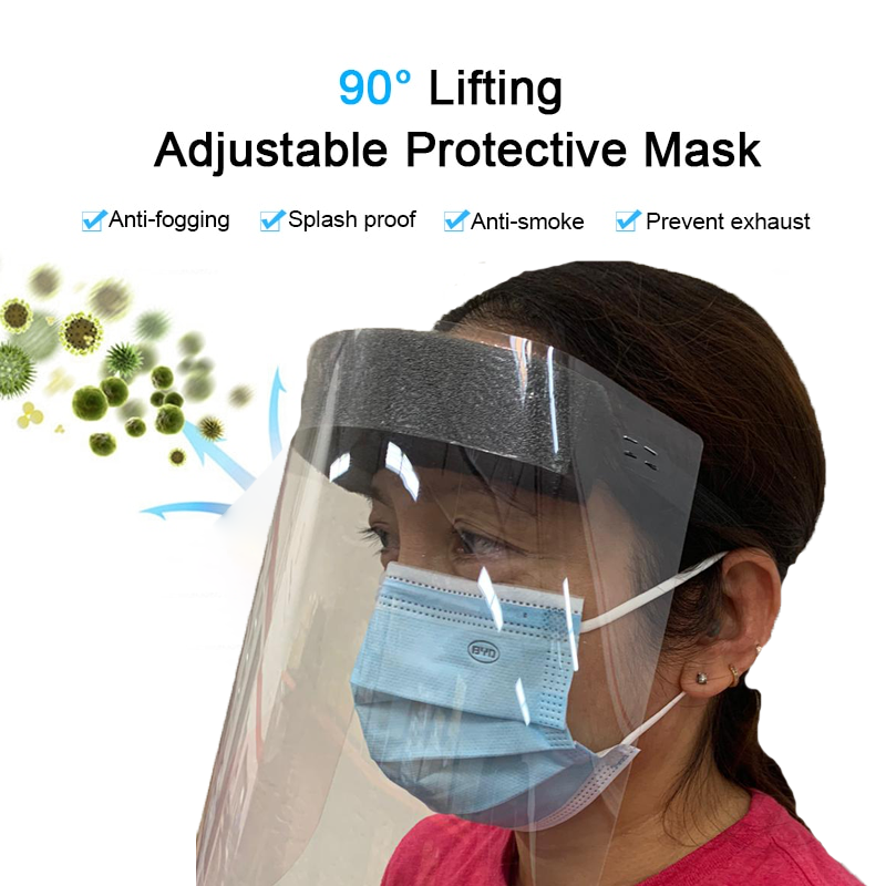 KP KOOL PRODUCTS Reusable Anti-Fog Face Shields, (Pack of 2)