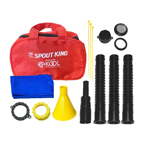 KP35 - Gas Can Spout Kit With Carry Around Hand Bag - Complete Accessories Included