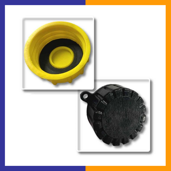 Gas Can Cap - Solid Base Replacement Gas Can Cap (1-Coarse and 1-Fine Thread)