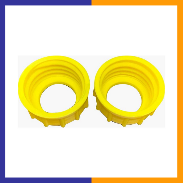 KP Kool Products 2 Aftermarket Yellow Midwest CAN Style Screw Cap Collar