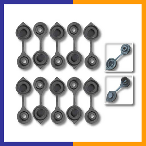 Ten Replacement Black Vent Caps - KOOLPRODUCTS