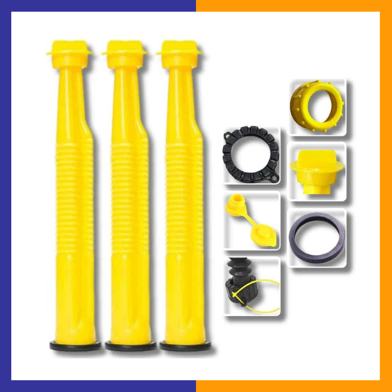 Yellow Replacement Spout Kit With Stainless Steel Filter And Vent Plug (Pack of 3)