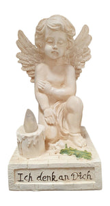 Angel Kneeling down Figurine with Solar light