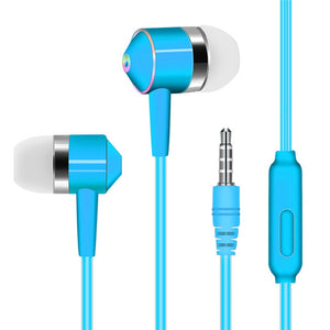 Wired Earphone Sport Headset With Mic Audio Stereo Auriculares In-Ear Earbuds Earpiece For Xiaomi Smart PHone