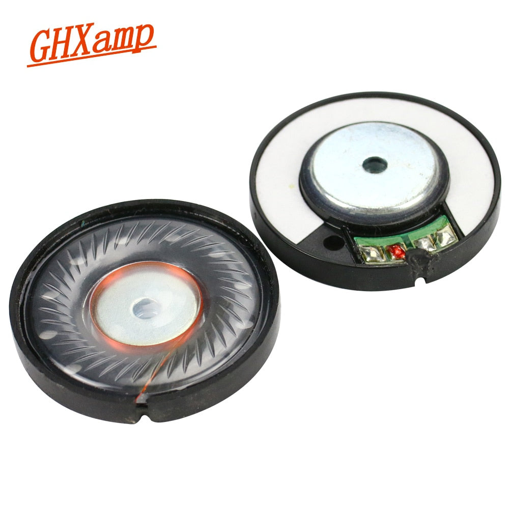 GHXAMP 40mm Headphone Speaker Unit Neodymium Headset Driver 112db HIFI Mid Bass Speakers Repair Parts For Headphones 2pcs