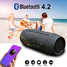 Load image into Gallery viewer, Waterproof Portable Speaker Mini Bluetooth Music Bass SpeakerSubwoofer Outdoor Wireless Loudspeaker Support TF FM Radio Aux