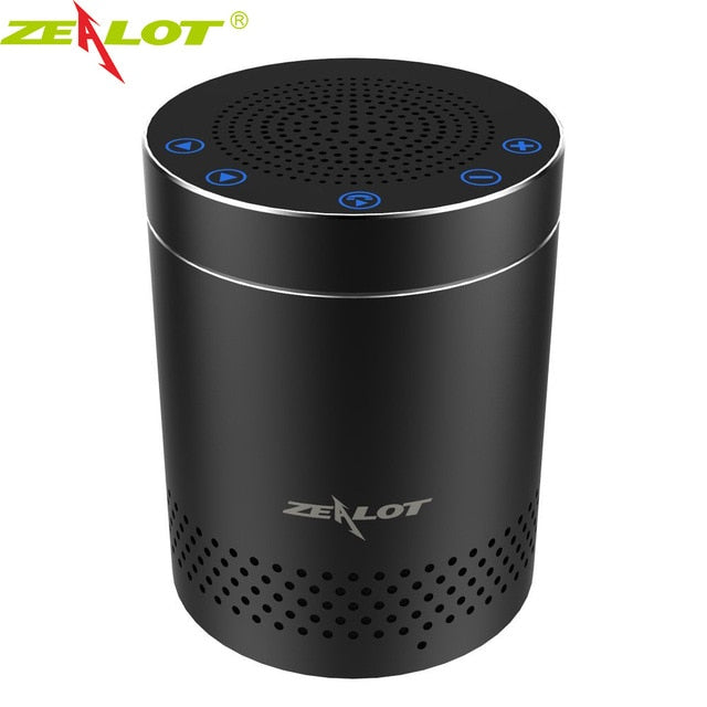 ZEALOT S15 Bluetooth Speaker Wireless Portable Speaker Subwoofer Aluminum Alloy HiFi Stereo 3D Surround Sound Outdoor Boombox