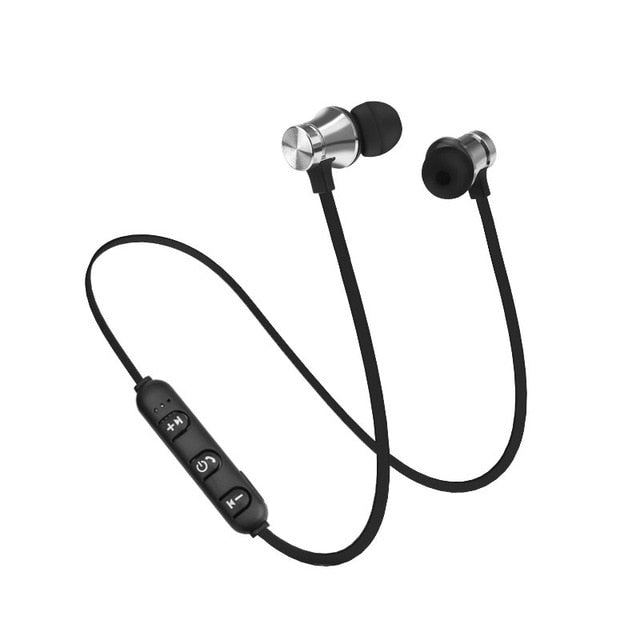 Bluetooth Earphone Wireless Sport Headphone Magnet Earbuds With Microphone Stereo Bluetooth Earpiece for Phone