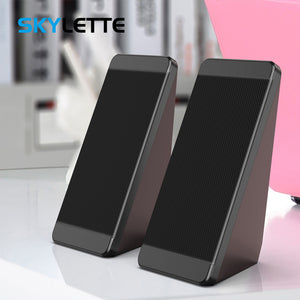 USB Wired Computer Speakers 2 Pieces PC Elevation Angle Horns for Laptop Desktop Phone Audio Speaker Multimedia Loudspeaker