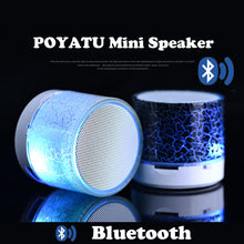 Load image into Gallery viewer, POYATU LED Mini Wireless Bluetooth Speaker TF USB Radio Portable Sound Box Musical Subwoofer Loudspeakers For Phone PC