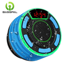 Load image into Gallery viewer, BassPal F013 Pro TWS Bluetooth Speakers IPX7 Waterproof Portable Wireless Shower Speaker with LED Display FM Radio Suction Cup