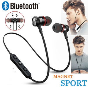 Bluetooth Headset Wireless Headset Stereo Headphones Sports Magnetic Earphones with Microphone for xaomi All Smart Mobile Phones