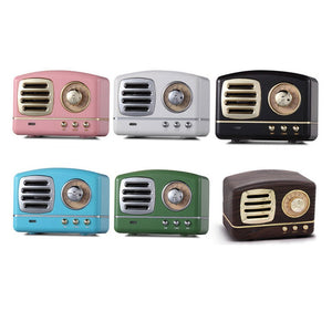 Retro Style Bluetooth Speaker HM11 Mini Speakers Bass Heavy Bass 3D Stereo Sound USB AUX Sound Effects Music Player Support
