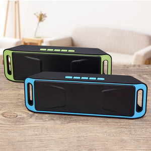 Portable Bluetooth Speaker wireless mini Speaker Amplifier Stereo Subwoofer Speaker TF USB FM Radio Built-in Mic Dual Bass SP208