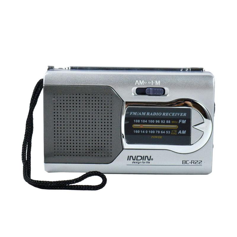 BC-R22 Portable AM FM Radio With Built-in Speaker Receiver Built In Speaker With Standard Headphone Jack High Quality Mini Radio