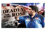 One80 John Michael Deadly Rose Premium Signature Tungsten Darts Free Shipping Australia Darts Direct Buy Online Information Photo