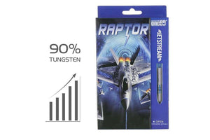 ONE80 Jetstream Raptor Darts Set - STEEL TIP - 90% Tungsten - Darts Direct