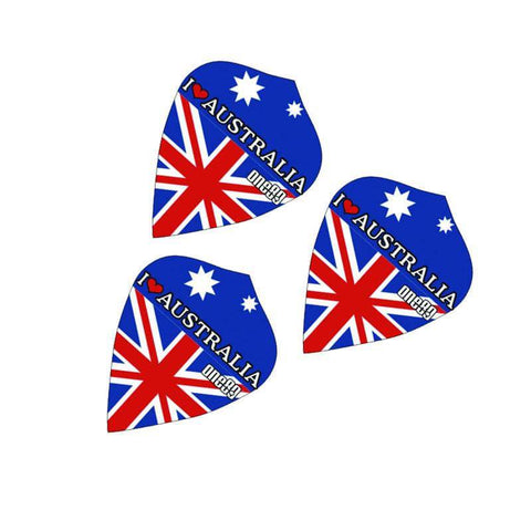 ONE80 FLIGHTS AUSSIE FLAG KITE I LOVE AUSTRALIA FREE SHIPPING BUY ONLINE DARTS DIRECT AUSTRALIA