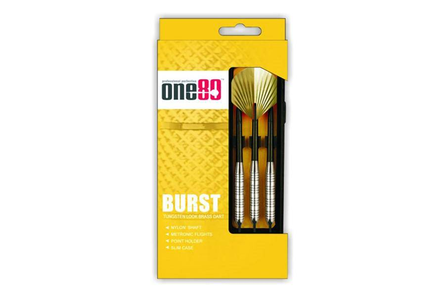 ONE80 Burst Darts Set - SOFT TIP - Brass - Darts Direct