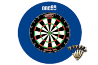ONE80 Bristle Dartboard, Surround & 6 Darts Set (BLUE) - Darts Direct