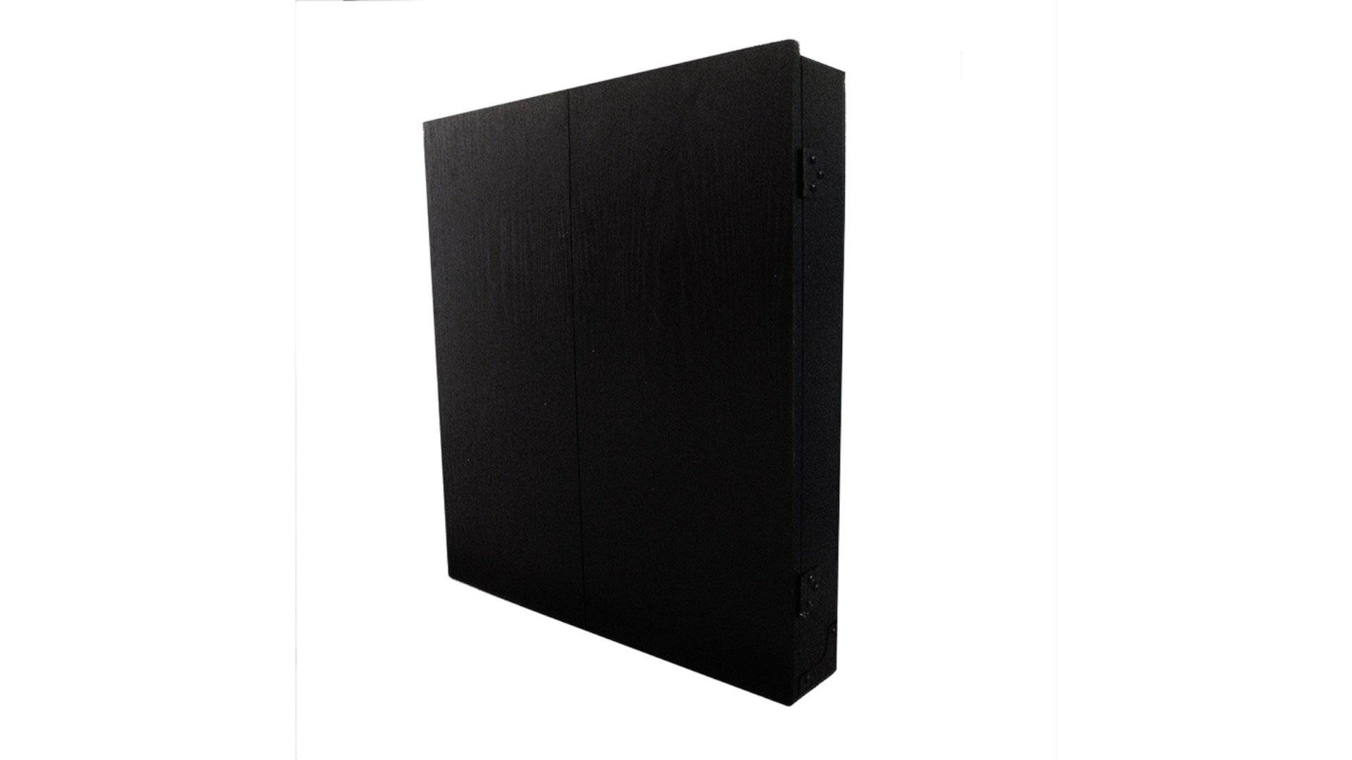 Formula MDF Dartboard Cabinet Black with Chalkboards - Darts Direct
