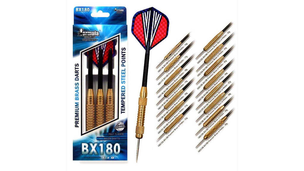 Formula BX180 Premium Brass Darts 21g - Darts Direct
