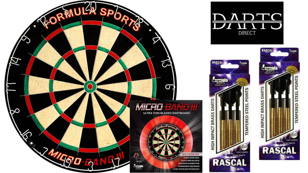 Formula Micro Band 3 Dartboard & Darts Pack - Darts Direct