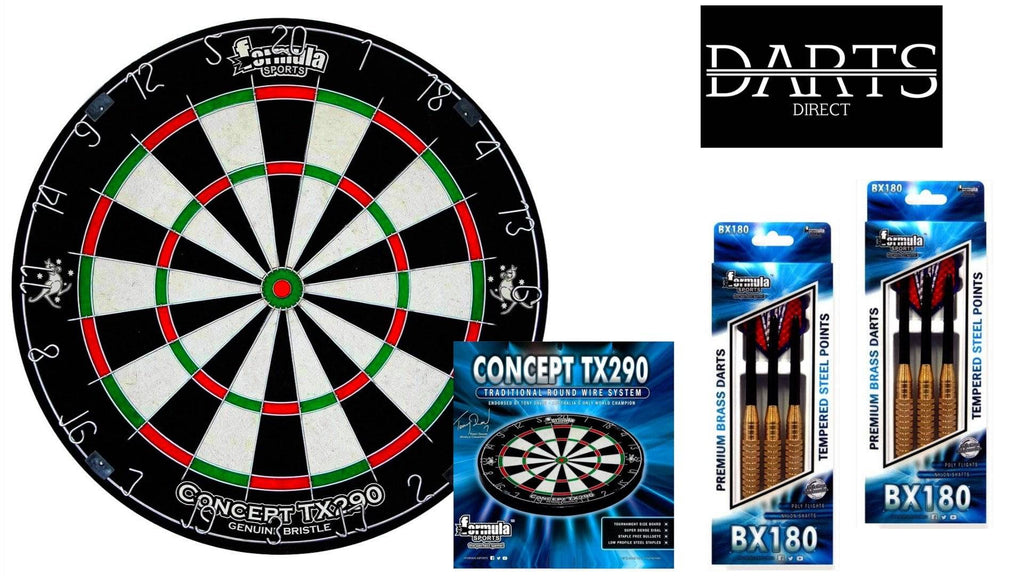 Formula TX290 Dartboard & Premium Darts Pack - Darts Direct
