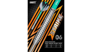 ONE80 Strike 4.0 Darts Set - Teal Blue - 80% Tungsten - Darts Direct