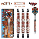 SHOT Roman Empire Ballista SOFT Tip Darts Set - 90% Tungsten Barrels - 20g - Darts Direct