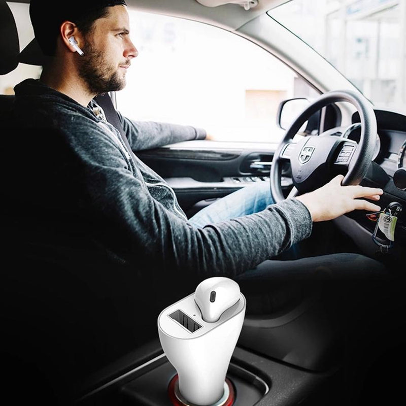 Cargador Coche USB + Manos Libres in-ear ON THE GO - Onlinemyphone
