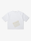 DIAGONAL FAKE POCKET T-SHIRT
