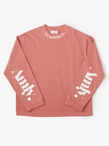 BOTTLE NECK LONG TEE / PINK