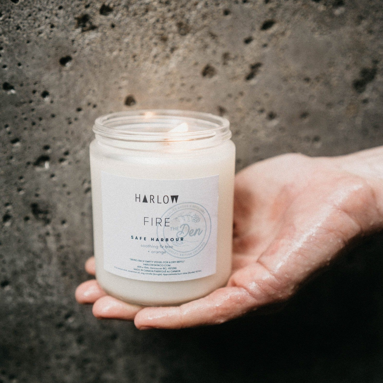 Safe Harbour Candle - Harlow X The Den - The Den Ucluelet