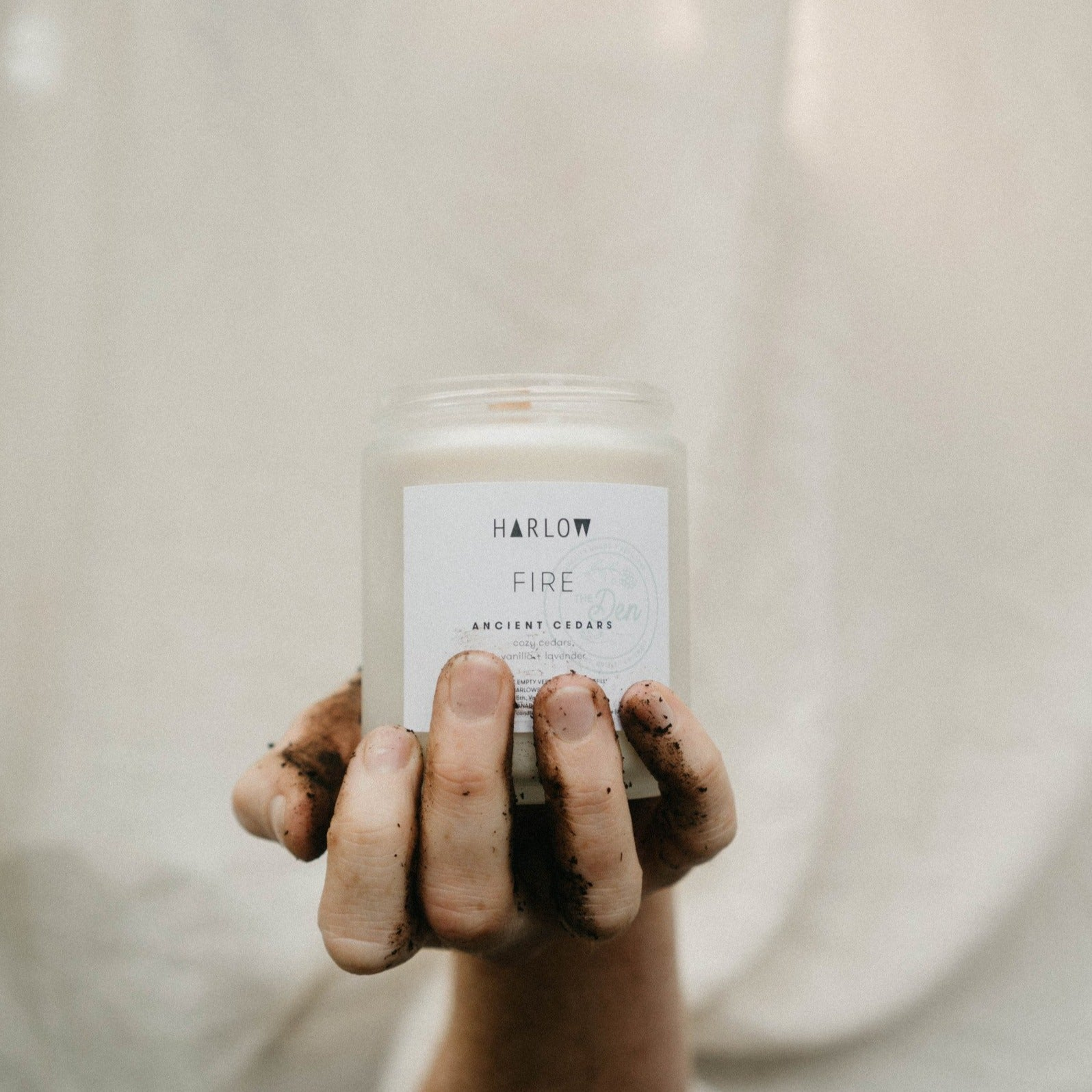 Ancient Cedars Candle - Harlow X The Den - The Den Ucluelet