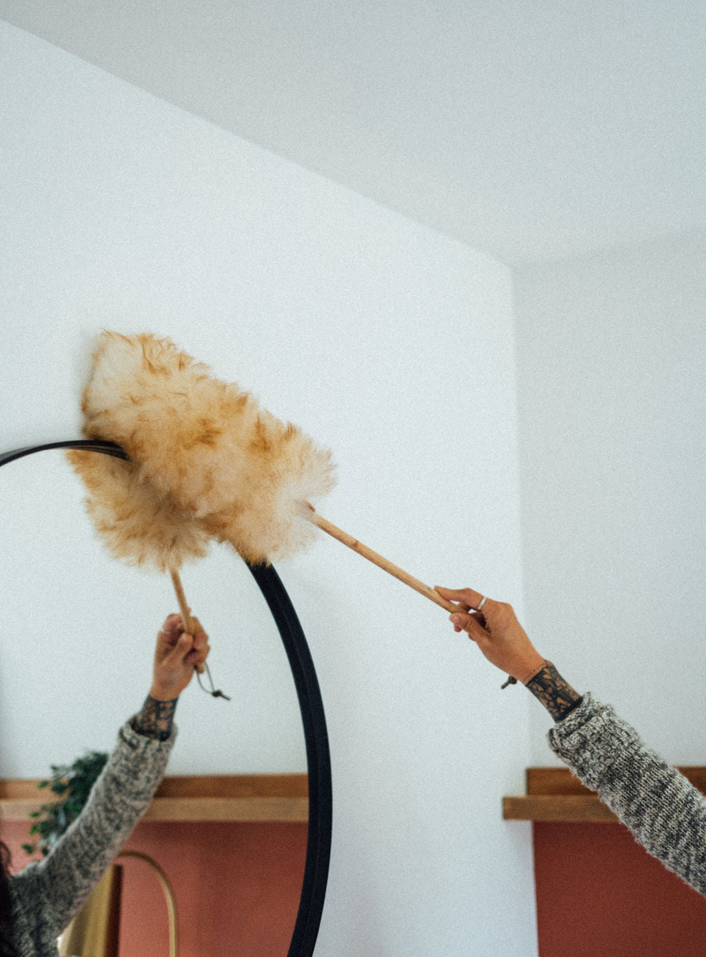 Natural Wool Duster