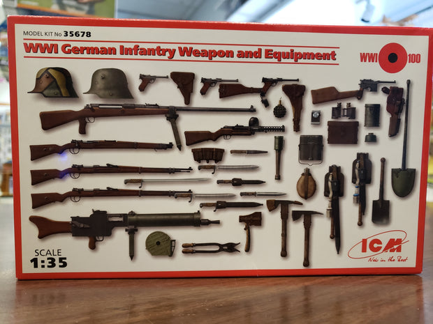 WW1 German infantry weapons and equipment