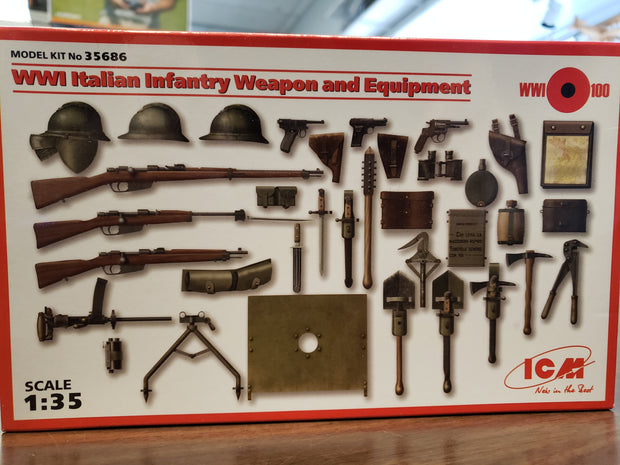 WW1 Italian infantry weapons and equipment