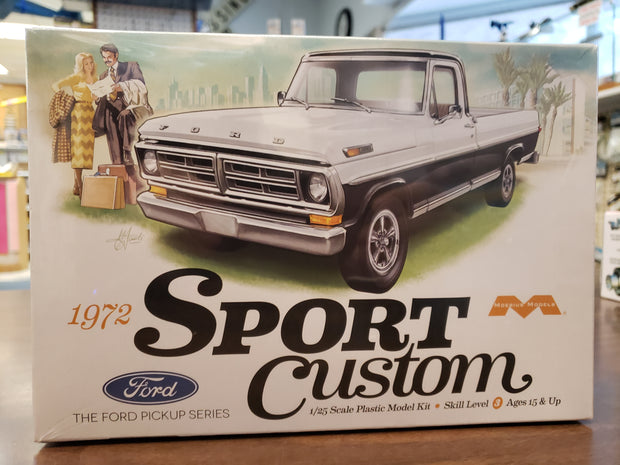 Models  1/25  1972 Sport Custom Ford Pick-up